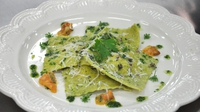Nettle ravioli - Stuffed with chorizo, from the MasterChef Ireland 2012 kitchen