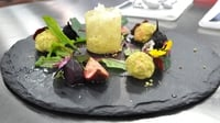 Salad of mixed beetroot with fig, goats cheese and truffle honey - A great starter from the MasterChef Ireland 2012 auditions