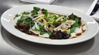 Cantonese Sea Bass  - Served with Shiitake Mushrooms, Leek & Ginger