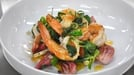 Prawns with green curry sauce, beetroot & spring onion  - A great dish from MasterChef Ireland 2012