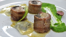 Rabbit and Black Pudding Roulade