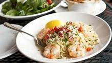 Prawn, Caper and Tomato Linguini