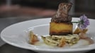 Lamb fillet with fennel salad and potato fondant  - Served with a white balsamic vinegar glaze