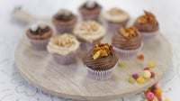 Celebratory Chocolate Cupcakes - Simple, quick and certainly worthwhile, especially for children's parties, from Rachel's new series, 'Cake Diaries'.