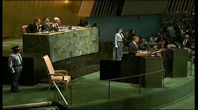 Barack Obama addresses the UN General Assembly