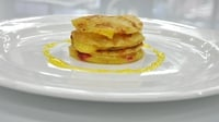 Pancake Mille feuille - A childhood favourite inspired dish from Fidelma Boyce during MasterChef Ireland