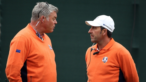 Darren Clarke was part of Jose Maria Olazabal's backroom team at the 2012 Ryder Cup in Medinah