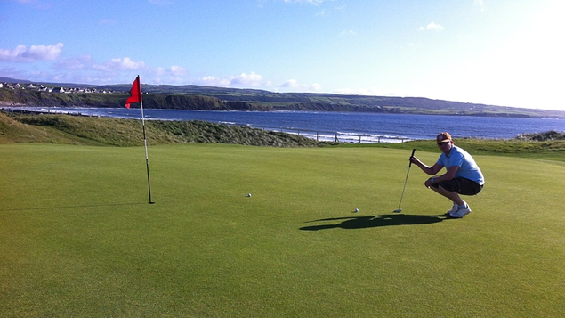 Ed works on his game in Lahinch