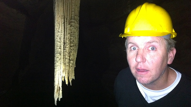 Ed Leahy meets the Giant Stalactite (or should that be the other way around?)