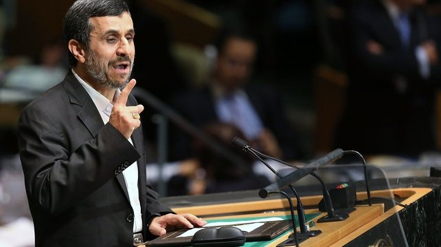 Mahmoud Ahmadinejad called for a new world order not dominated by Western powers in the service of 'the devil'