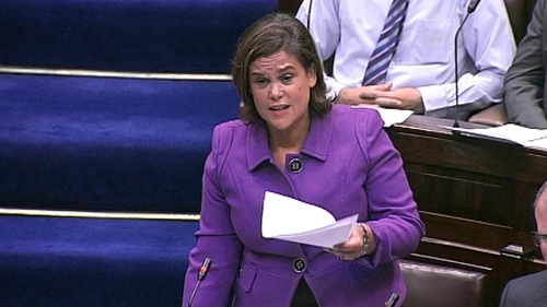 Mary Lou McDonald said the motion did not require the Government to pre-empt the findings of the report.