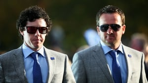 Rory McIlroy and Graeme McDowell turn on the style for the opening ceremony of the 39th Ryder Cup at Medinah