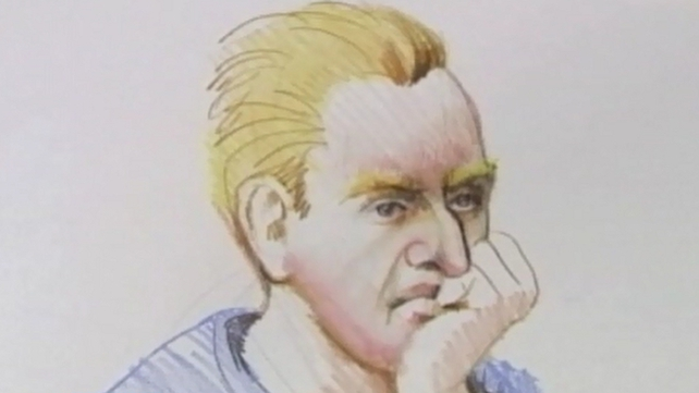 A court sketch of 41-year-old Coburg man Adrian Bayley
