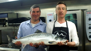 Evan Doyle with Mick Murphy, Fisherman