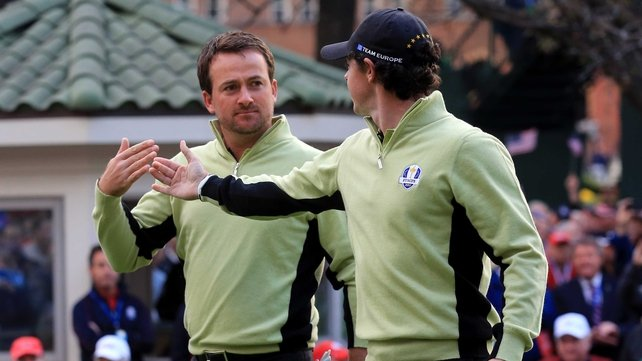 Rory McIlroy and Graeme McDowell led the European charge at Medinah