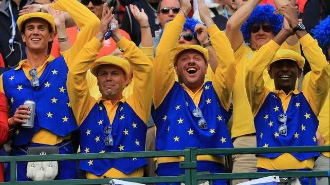 The European fans are making their presence felt at Medinah