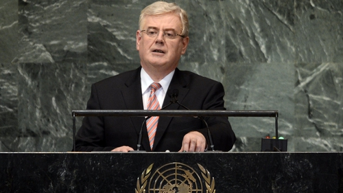 Eamon Gilmore said Ireland would like to see those suspected of war crimes brought to the ICC
