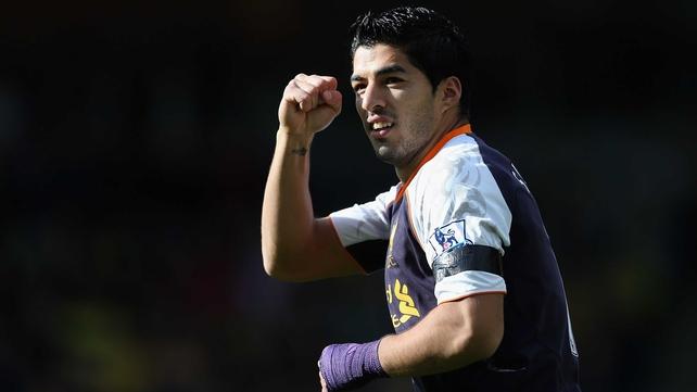 Luis Suarez claimed an impressive hat-trick for Liverpool