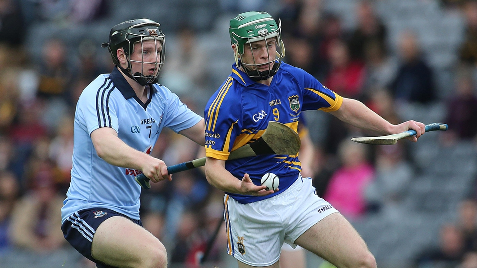 Dublin's Sean McClelland looks to dispossess Stephen Cahill