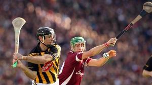 Kilkenny's Kieran Joyce and David Burke in action