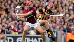 Galway's Iarla Tannion and Cillian Buckley get stuck in