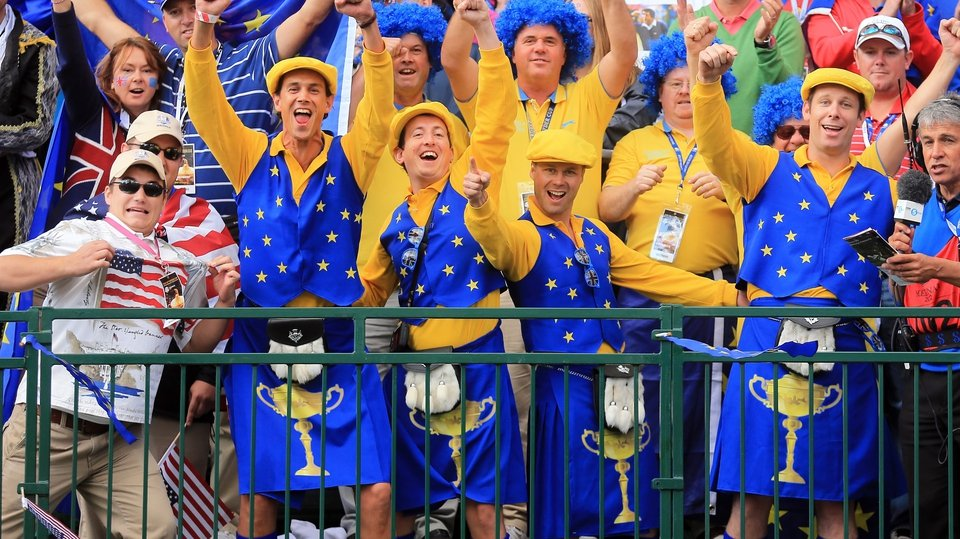 Europe fans 'tastefully' dressed in Europe colours