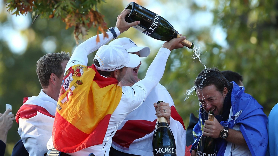 Garcia gives Graeme McDowell a pricey shower