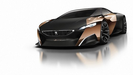 Peugeot showcased the work carried out by the Peugeot Design Lab, including the Onyx hybrid supercar