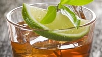 Jack Daniels White Rabbit cooler - This refreshing Jack Daniels drink requires a tall glass and a garnish of fresh lime