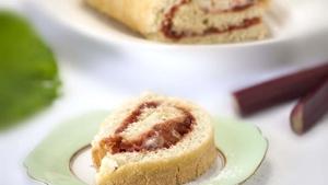 Rhubarb & Custard Swiss Roll: Rachel Allen