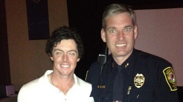 """Me with my chauffeur who drove me to the course yesterday!!"" - Rory McIlroy"