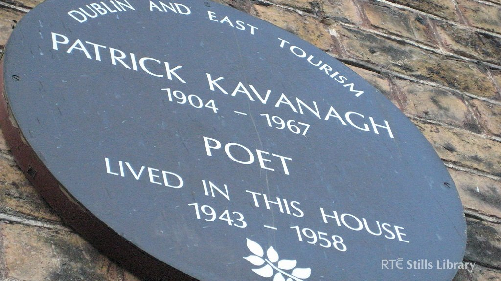 Plaque outside 62 Pembroke Road where Patrick Kavanagh lived for 15 years