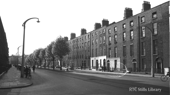 Lower Baggot Street, Dublin  Circa 1953/54 RTÉ Johnson Collection © RTÉ Stills Library 3009/023