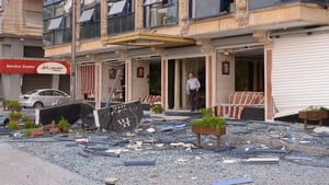 Blasts ripped out windows of surrounding businesses