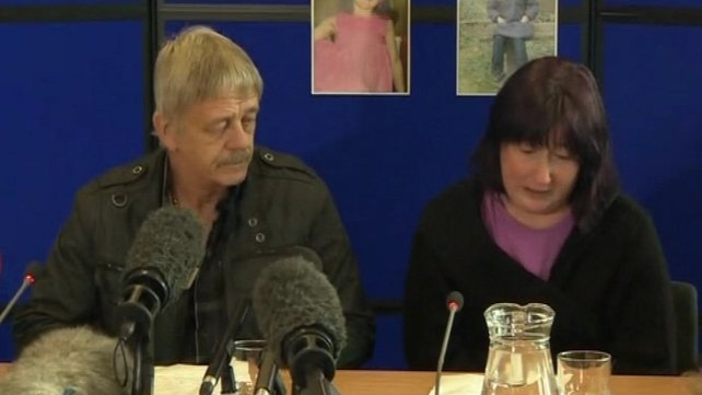 Coral Jones with April's step grandfather made a public appeal at a press conference
