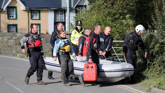 The Dyfi river has been searched for clues to April's disappearance