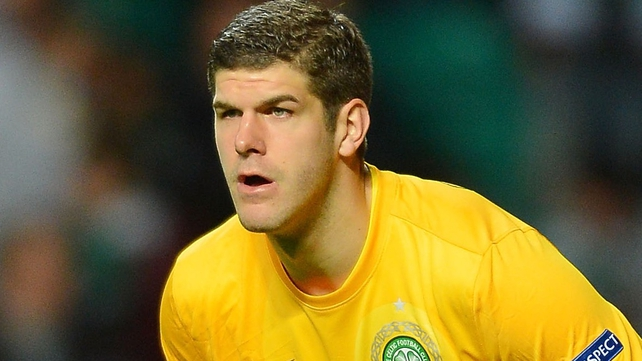 Fraser Forster helped Celtic to a 15th consecutive league win