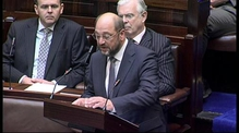 European President Martin Schulz addresses the Dáil