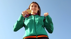 Katie Taylor with her Olympic gold medal back in 2012