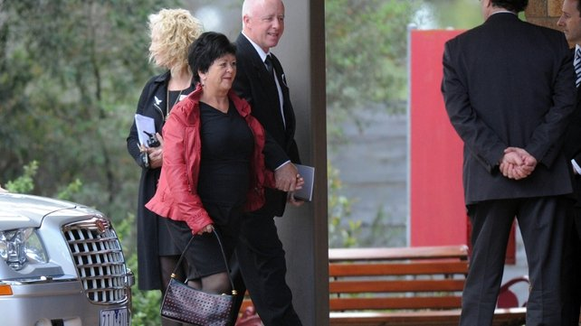 Jill Meagher's parents arrive at the funeral service in Melbourne