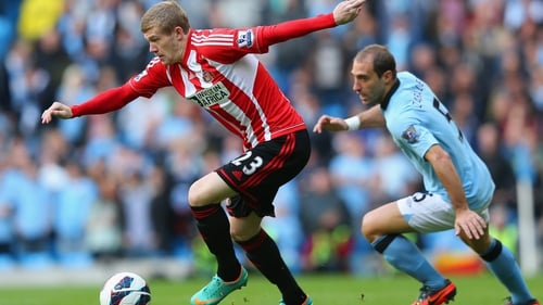 Ireland international James McClean may feature for Sunderland against Newcastle on Sunday