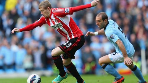 Ireland's James McCLean couldn't help Sunderland avoid defeat