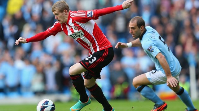 Ireland's James McCLean couldn't help Sunderland avoid defeat