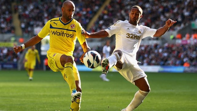 Reading were pegged back by two second-half Swansea goal