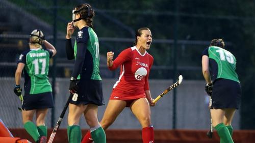 Torrie Albini celebrates USA's winning goal