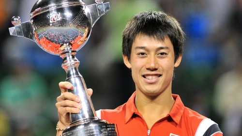 Kei Nishikori delighted the home crowd with a 7-6 3-6 6-0 victory in Tokyo
