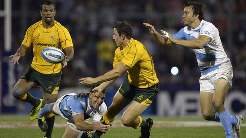 Mike Harris scored 20 points for Australia as they defeated Argentina in Rosario