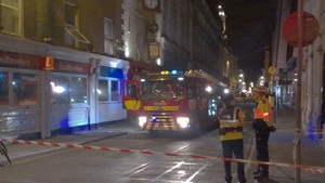 Units from the Dublin Fire Brigade attended the scene in Dublin last night (Pic: Nicky Ryan)