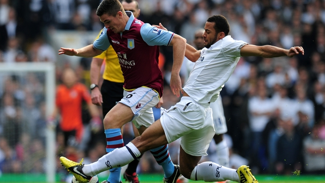 Ciaran Clark was in the Villa side that went down to Spurs at The Lane