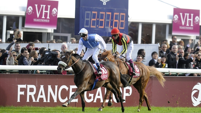 The stamina-laden Solemia coped best of all with the bog-like conditions which prevailed at Longchamp on Arc day